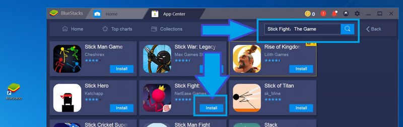 Search and Install Stick Fight: the game for PC