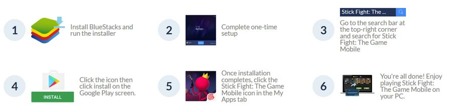 Stick Fight:The Game with bluestacks